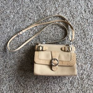 Brighton crossbody cream purse with wallet
